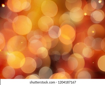 pale orange gold glowing background with blurred round blurred lights and sparkling detail