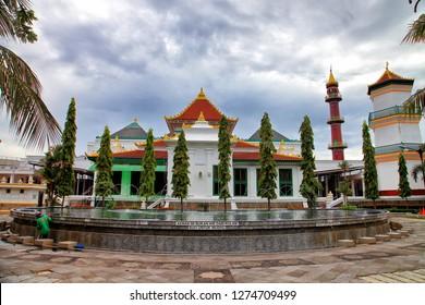 palembang city, south sumatera, indonesia. desember 30, 2018 : Palembang Grand Mosque