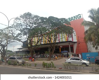 Palembang, Indonesia - June 09, 2019: Pasaraya JM in Palembang,Pasaraya JM is a supermarket that sells family needs