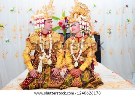 Palembang, Indonesia - September 09, 2013:Palembang Style Wedding