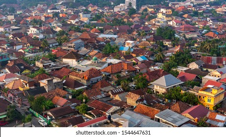 Palembang / Indonesia - September 6, 2019: Cityscape of Palembang city in the morning. Palembang is the capital city of the Indonesian province of South Sumatra.
