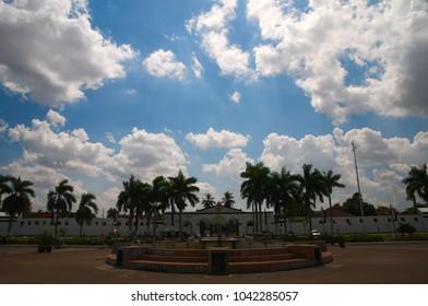 Palembang, South Sumatra / Indonesia - June 26, 2012: Benteng Kuto Besak (Kuto Besak Fort), is one of the historical heritages of the Palembang Darussalam Sultanate.