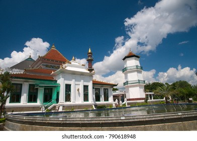 Palembang, South Sumatra / Indonesia - June 26 2012 : The Great Mosque of Palembang (Masjid Agung Palembang)