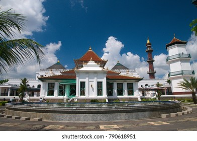 Palembang, South Sumatra / Indonesia - June 26 2012 : The Great Mosque of Palembang (Masjid Agung Palembang)