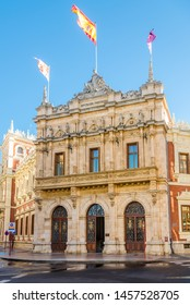 PALENCIA,SPAIN - MAY 13,2019 - View at the Provincial Palaco in Palencia. Palencia is a city in north-northwest Spain.