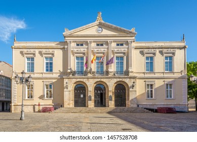 PALENCIA,SPAIN - MAY 13,2019 - View at the Town hall of Palencia. Palencia is a city in north-northwest Spain.
