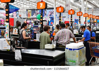 Palenque, Chiapas, United Mexican States - may 17 2018 : a supermarket