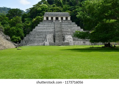 Palenque, Chiapas, United Mexican States - may 17 2018 : the pre Columbian Maya site Palenque