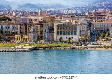 Palermo city seafront view, Sicily, Italy