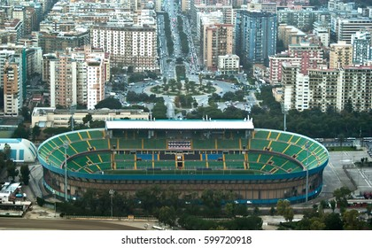 Palermo, Italy, 28 December, 2012: Stadio Renzo Barbera is owned by the town of Palermo and is used, to the home matches of the football team of Palermo Calcio.