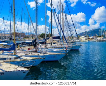 PALERMO, ITALY - JULY 15, 2014: View of the port of Palermo.