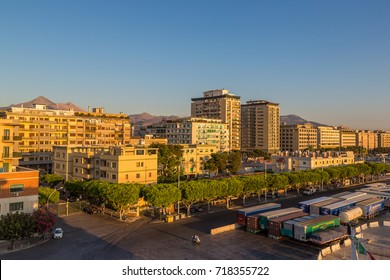 PALERMO, ITALY - JULY 28, 2017: Palermo in the morning, Italy in a summer day