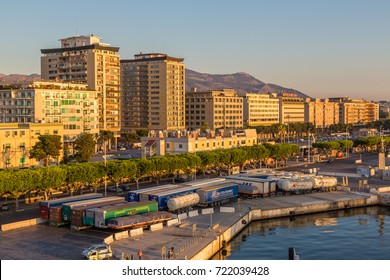 PALERMO, ITALY - JULY 28, 2017: Palermo in the morning, Italy in a beautiful summer day