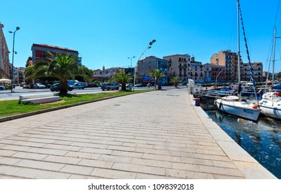 PALERMO, ITALY - JUNE 15, 2017:  city yacht port harbor view, Sicily.