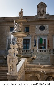 PALERMO, ITALY - October 13, 2009: Marble statue of Piazza Pretoria, also known as the Piazza of Shame in Palermo, Sicily