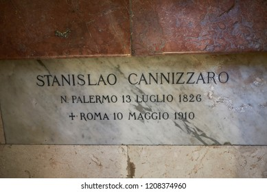 Palermo, Italy - September 07, 2018 : Stanislao Cannizzaro tomb in the Church of Saint Dominic