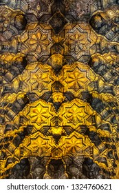 PALERMO, SICILY, ITALY - SEPTEMBER 28, 2018: Interior of Cappella Palatina (Palatine Chapel) - royal chapel of the Norman kings of Sicily in Palazzo dei Normanni (Palace of the Normans).