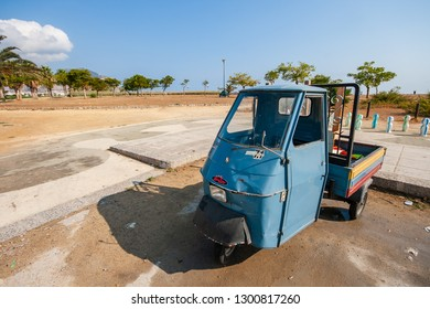 PALERMO / SICILY - SEPTEMBER 15, 2011: Piaggio Ape, classical italian three wheled vehicle based on a Vespa scooter