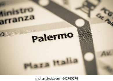 Palermo Station. Buenos Aires Metro map.