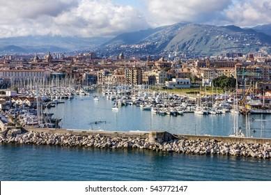 Palermo yacht port marina, Sicily, Italy