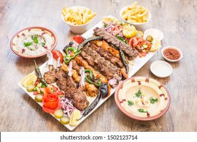 Palestine Manakeesh on wood table traditional food