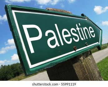 PALESTINE road sign