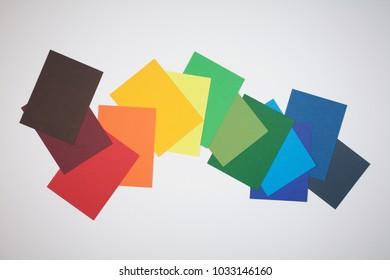 A palette of color paper