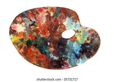palette with colors