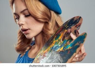 palette, colors, painter, drawing, art