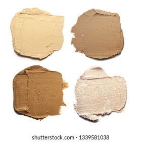 Palette corrector strobing highlighter stick blur and bronzer isolated sampler