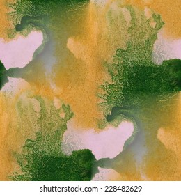 palette graphic  green, yellow seamless style texture watercolor frame picture background artist artwork