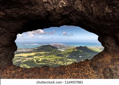 Pali Puka Lookout, Oahu Hawaii