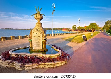 Palic lake, Serbia, August 24 2018: Palic lake walkway at dawn near town of Subotica view, Vojvodina region of Serbia. Famous tourist destination in northern Serbia.