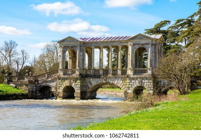 Palladian Bridge in the grounds of Wilton House  This Palladian Bridge across the River Nadder is in the grounds of Wilton House near Salisbury, the country seat of the Earles of Pembroke.