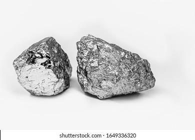 Palladium is a chemical element that at room temperature contracts in the solid state. Metal used in industry. Mineral extraction concept.