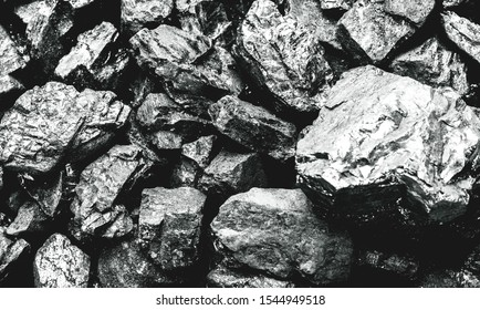 Palladium is a chemical element which at room temperature contracts in the solid state. Metal used in industry. Mineral extraction concept.