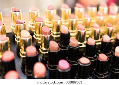 Pallet of lipstick, black and gold package