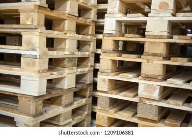 Pallet in warehouse