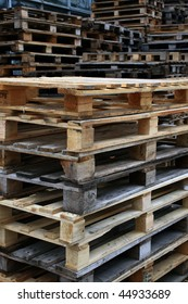 pallets waiting to be used for transporting products