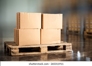 Pallettes with boxes