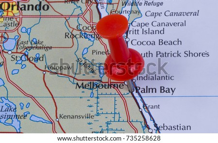 Map Of Palm Bay Florida.Palm Bay Florida Brevard County United Stock Photo Edit Now