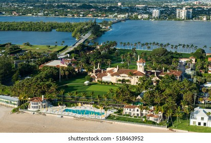 Palm Beach, Fl., November 19, 2016:  President-elect Donald Trump is expected to vacation at his Mar-a-Lago club and mansion in Florida.  Mar-a-Lago is shown in an aerial view as of January 12, 2013.