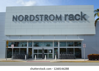 Palm Beach ,FL  USA - November 17,2017: Exterior view of Nordstrom Rack. Nordstrom Rack is a fashion retailer based in the United States.
