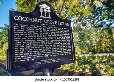 Palm Beach, Florida: December 6, 2017: Cocoanut Grove House in Palm Beach, Florida.  The Cocoanut Grove House was built in 1876.