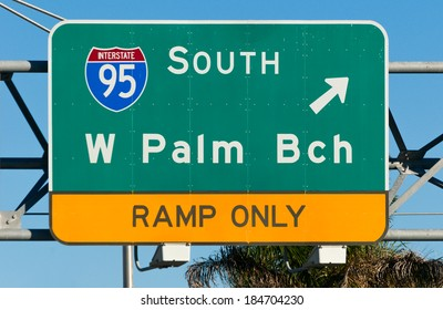 Palm Beach Highway Sign