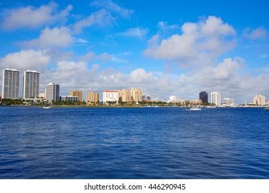 Palm Beach skyline in Florida USA