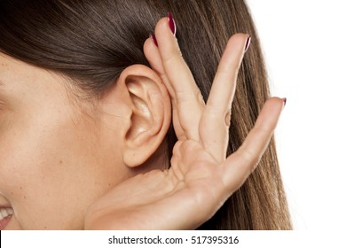 The palm behind the ear. The concept of listening
