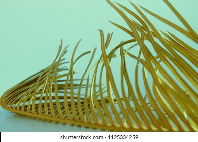 palm branch on a light background in the style of lomography