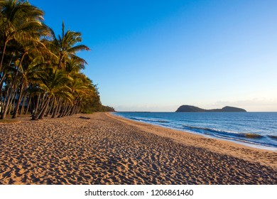 PALM COVE, QUEENSLAND, AUSTRALIA - 22 AUGUST 2011: Beautiful Palm Cove beach just north of Cairns is a tropical paradise and a popular tourist destination.