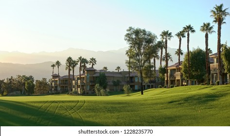 Palm Desert, CA / USA - November 8, 2018: The golf course at the JW Marriott Desert Springs Resort